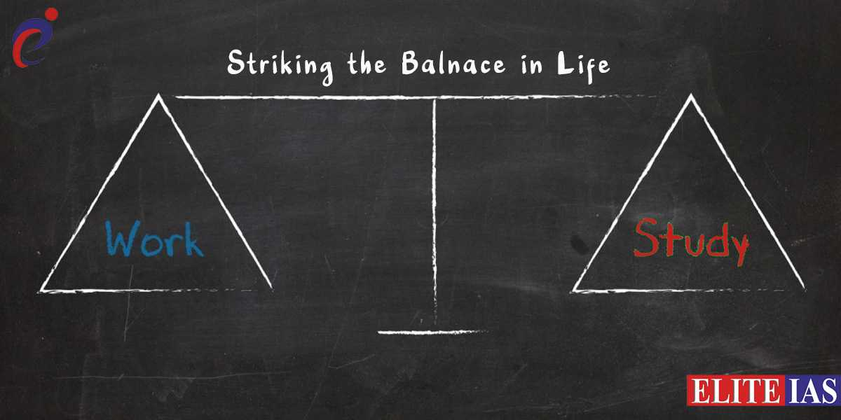 Striking the balance in life